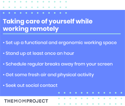 Taking care of yourself while working remotely