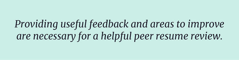 Provide useful feedback and areas to improve