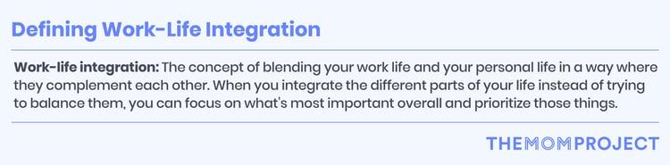 Defining work-ife integration
