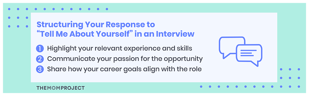 Structuring your response to tell me about yourself in an interview
